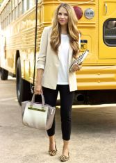 Love the look of a classic, structured blazer to dress up an otherwise casual outfit.