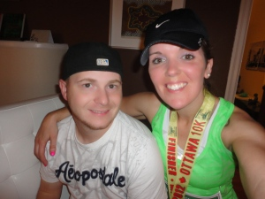 Bradley and I after running the 10k in Ottawa.