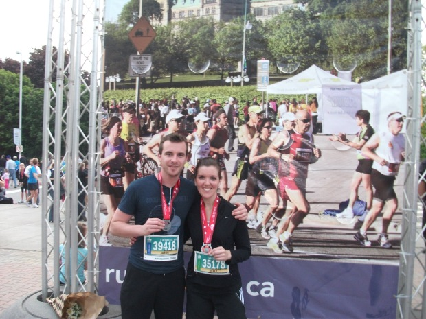 My friend Jason and I after completing my first ever 10k