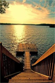 This dock. At sunset.