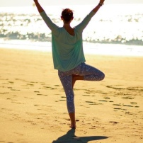 Yoga is lovely. Yoga on the beach is lovelier.