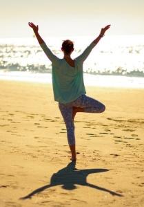 Yoga is lovely. Yoga on the beach is lovelier.