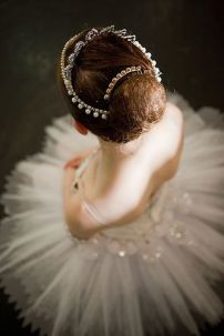 A ballerina waiting to go onstage