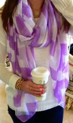No matter the season, I love scarves. This one is easy breezy and is the perfect colour for spring.