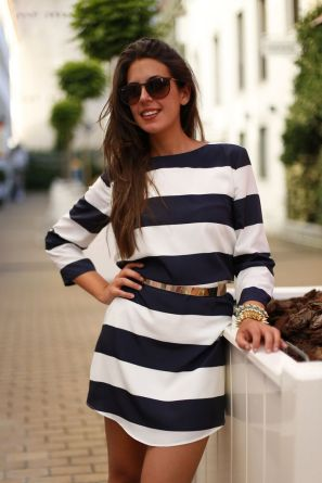 Stripes - preferably black and white.