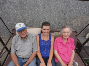 Me with Grandpa and Grandma a few years ago at their farm house.