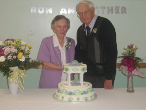 My grandparents on their 60th - they would have celebrated 65 years of marriage next month.