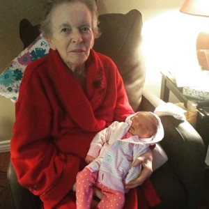 Aubrey meets her Great-Grandma