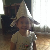 Izzy's hat I made her