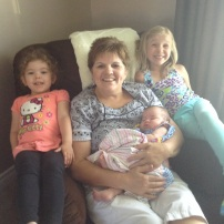 Mom and her granddaughters