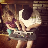 Playing keyboard with Uncle Brad