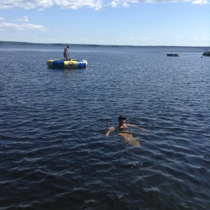 Swimming in Lake Muskoka