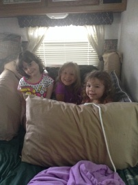 Playing in the camper