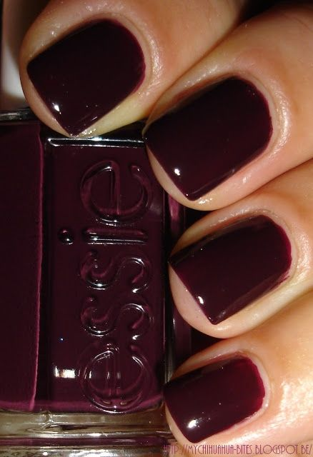 The perfect nail colour for fall.