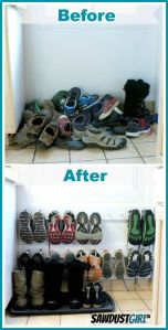 I might have to try this for extra shoe storage!