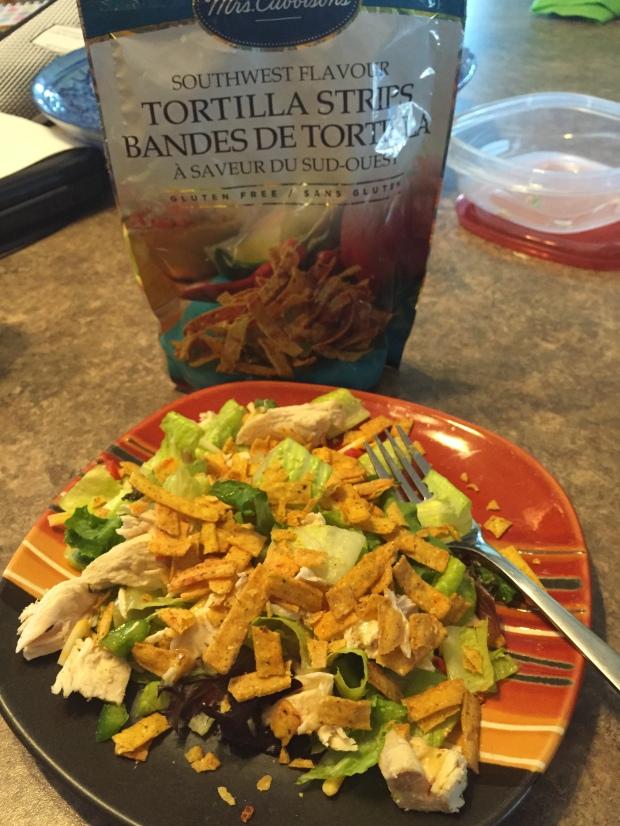 I had leftover salad instead.