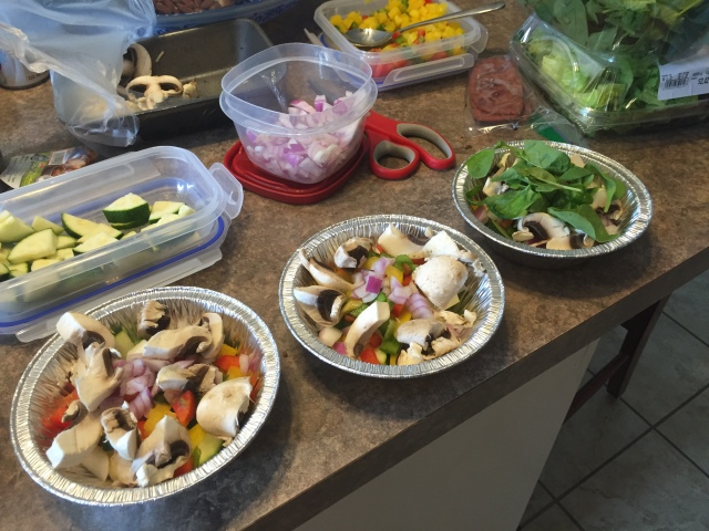 Food prep underway!