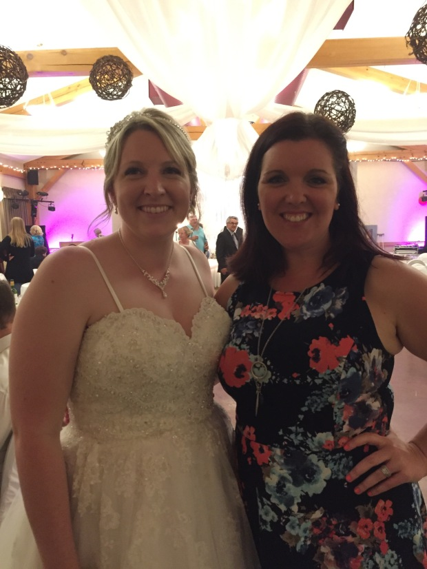 Me and the gorgeous bride! A great co-worker and friend!