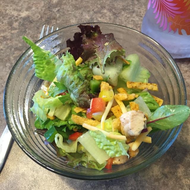 Delicious chicken taco salad