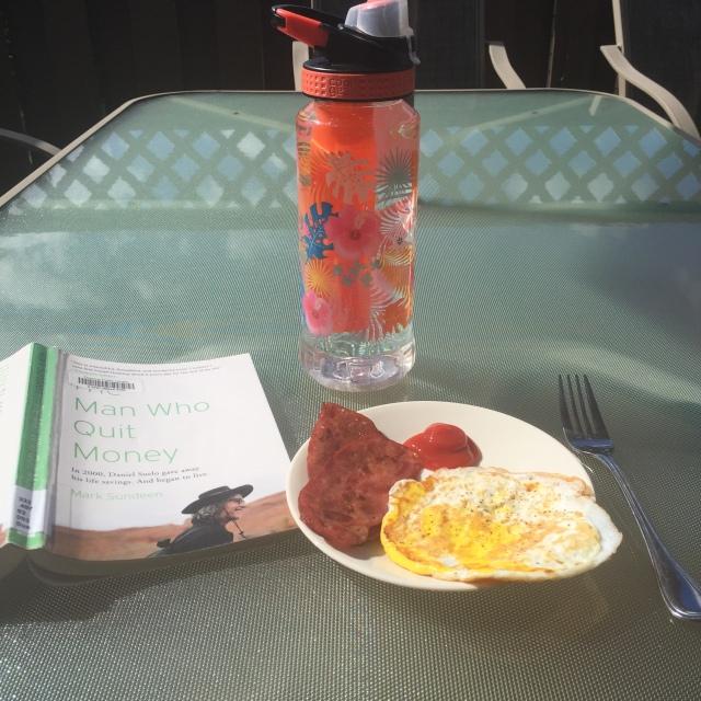 Breakfast on the patio!