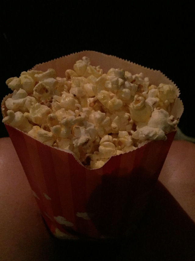 This popcorn wasn't the best but I half of it anyway.