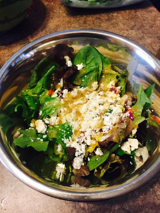 My version of a Greek salad.