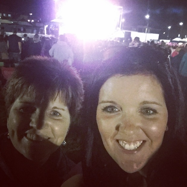 We met up with my Mom, Dad and some other family at the concert. Here's me and my Mama loving the music!