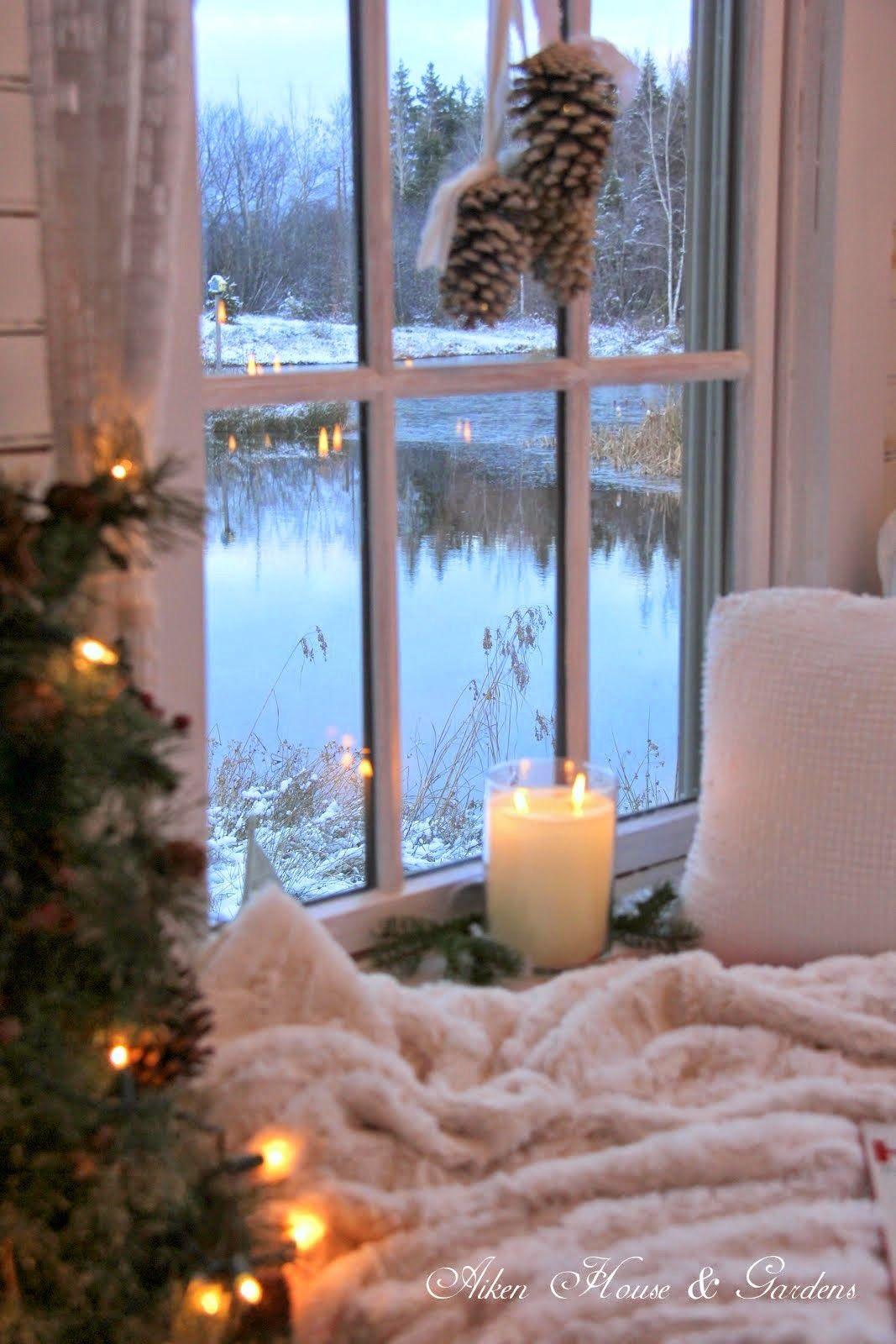 This is not my home but I love how cozy it looks.